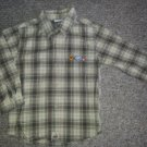 KRU Yellow Plaid Safari animals Long Sleeved Shirt Boys Size 4T