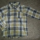 CRAZY 8 Brown Plaid Button Front Shirt Boys Size 3T