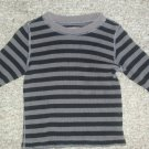 THE CHILDREN'S PLACE Black and Gray Striped Thermal Waffle Weave Top Boys Size 3