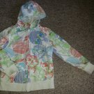 OLD NAVY Skull Print Zip Front Hooded Jacket Boys Size 6-7 SMALL