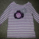 GYMBOREE Purple Striped Lights Camera Fashion Top Girls Size 10