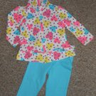 KIDGETS Hooded Heart Print Pant Set Girls Size 24 months
