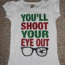 KAVIO GIRL White YOU'LL SHOOT YOUR EYE OUT Short Girls Size 3 NEW