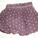 BABY GAP Brown Corduroy Heart Print Bubble Skirt Girls Size 2T
