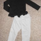 GARANIMALS Black Lacy Top Gray CHEROKEE Jeans Girls Size 24 months