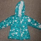 HEALTHTEX Quilted Blue Hooded Star Print Winter Parka Girls Size 24 months