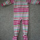 THE CHILDREN'S PLACE Pink Striped Fleece Blanket Sleeper Girls Size 3T
