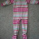 THE CHILDREN'S PLACE Pink Striped Fleece Blanket Sleeper Girls Size 3T