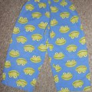 Homemade Flannel Sleep Pants Blue Frog Print Boys Size 2T 3T