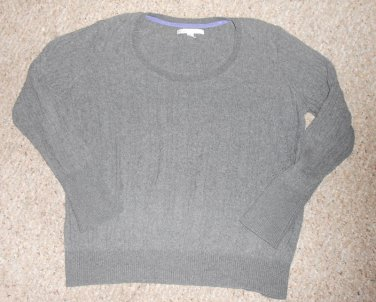 OLD NAVY Gray Cable Knit Scoop Neck Sweater Ladies XLARGE