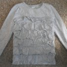 CRAZY 8 by GYMBOREE Ruffled Gray Long Sleeved Top Girls Size 3T