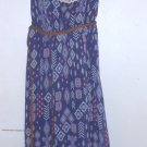 XHILARATION Navy Print Sundress with Braided Leather Belt Girls Size 10-12 L