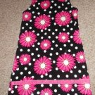 CORKYS KIDS Black and Pink Daisy Corduroy Jumper Dress Girls Size 10