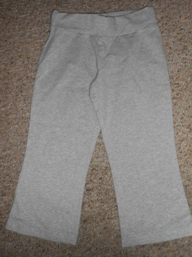OLD NAVY Gray Fold over Capri Yoga Pants Leggings Girls Size 10 M