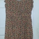 FOREVER 21 Brown Floral Print Sundress Ladies Medium Size 6-8