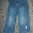 Denim Jeans with Flower Accent Girls Size 18 months