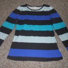 H&M Striped Long Sleeved Top Girls Size 8-10