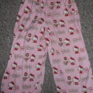 Homemade Pink HELLO KITTY Flannel Sleep pants Girls Size 2T