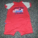 CARTER'S Red Little Hero Short Romper Boys Size 3 months