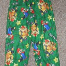 Green MARIO BROTHERS Flannel Sleep pants Boys Size 6