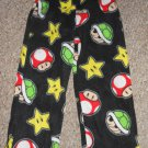 Black MARIO BROTHERS Fleece Sleep Pants Boys Size 6