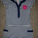 GYMBOREE Navy and White Striped Short Romper Girls Size 4