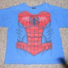 Blue SPIDERMAN Short Sleeved Top Boys Size 8