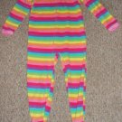 OSH KOSH Rainbow Striped Fleece Blanket sleeper Girls Size 4
