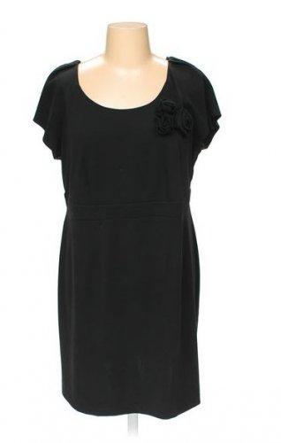 NEW Short Sleeved Little Black Dress FASHION BUG Womans Plus Size 1X
