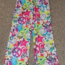 JUSTICE Retro Puppy Dreams Flannel Sleep Pants Girls Size 10