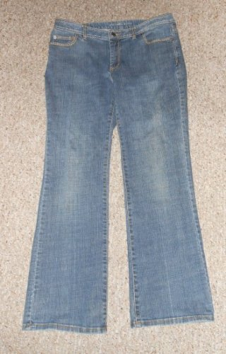 MICHAEL KORS Stitched Stretch Denim Bootcut Jeans Ladies Size 10P