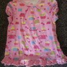 J KHAKI KIDS Pink Cupcake Print Ruffled Hem Top Girls Size 5