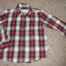 SONOMA Black and Red Plaid Long Sleeved Button Front Shirt Boys Size 4