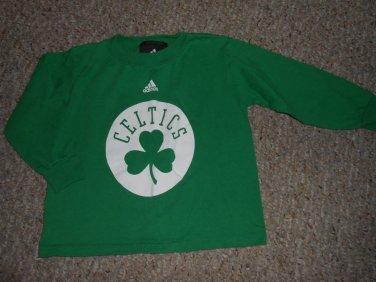 ADIDAS Green BOSTON CELTICS Long Sleeved Top Boys Size 3T