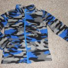 TOUGHSKINS Blue Camo Print Fleece Jacket Size 4
