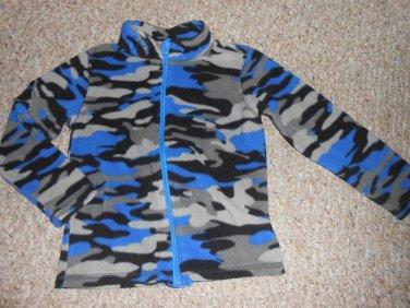 TOUGHSKINS Blue Camo Print Fleece Jacket Size 4
