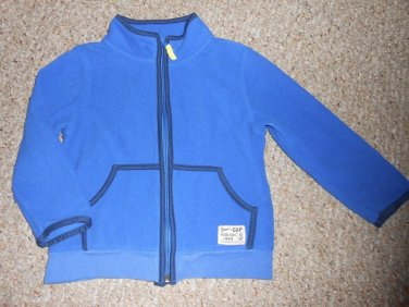 BABY GAP Blue Zip Front Fleece Jacket Size 4