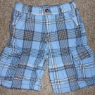 CRAZY 8 Blue Plaid Cargo Shorts Boys Size 4