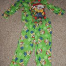 Green MINION Holiday Flannel Pajamas Boys Size 4