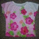 JUMPING BEANS Pink floral Print Short Sleeved Top Girls Size 2T