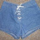 L.E.I. Tie Front Denim Short Shorts Ladies Juniors Size 7