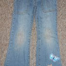 GAP Bootcut Distressed and Appliqued Stretch Denim Jeans Girls Size 6