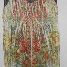 NWT Brown Paisley Print Sleeveless APT 9 Dress Peek A Boo Mesh Ladies LARGE Size 10-12