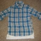 KNITWORKS Blue Plaid Layered Rock & Roll Short XLARGE Girls Size 12-14