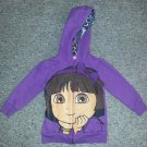 Purple DORA THE EXPLORER Hooded Zip Front Jacket Girls Size 2T