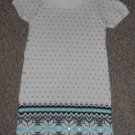 JILLIAN'S CLOSET Off White Short Sleeved Knit Dress Girls Size 7-8