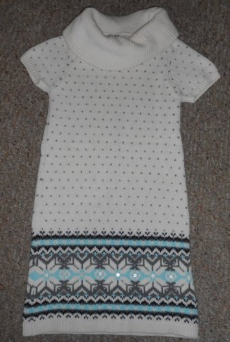 JILLIAN�S CLOSET Off White Short Sleeved Knit Dress Girls Size 7-8