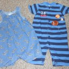 TOMMY HILFIGER Lot of Infant Boys Rompers Size 0-3 months CARTER'S