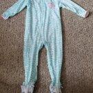 CARTER'S Pink and Blue Zebra Sleeper Girls Size 24 months
