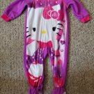 Purple and Pink HELLO KITTY Fleece Blanket Sleeper Girls Size 18 months